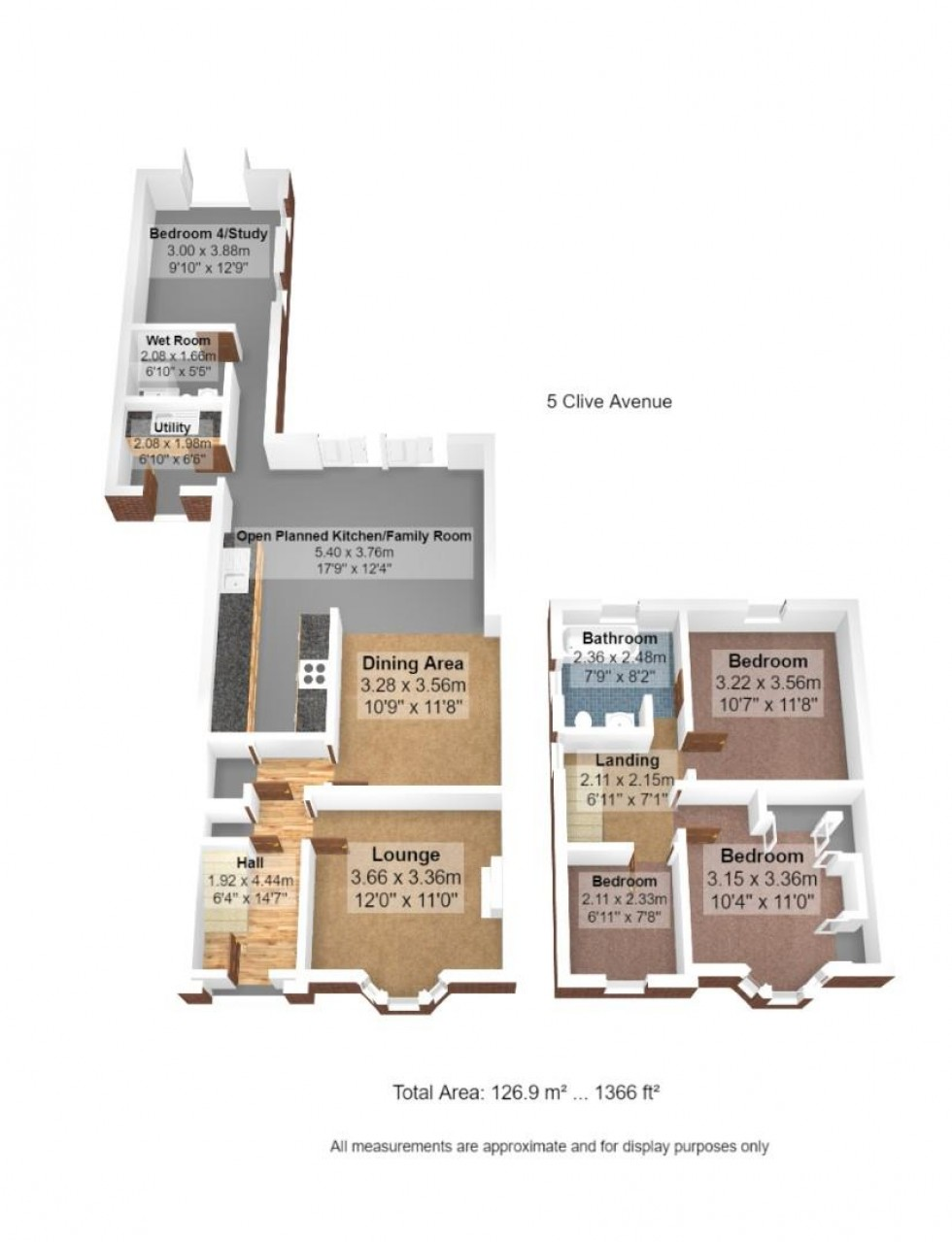 Floorplan for Clive Avenue, Lytham St. Annes